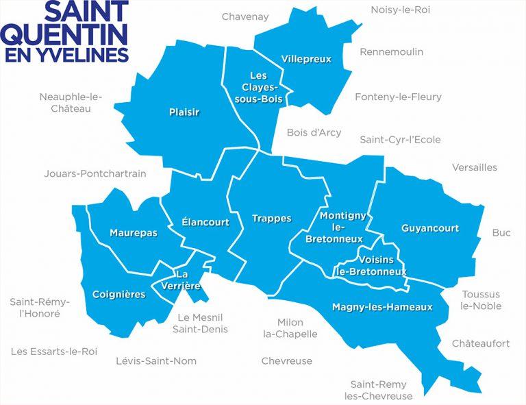 carte de la communauté d'agglomération